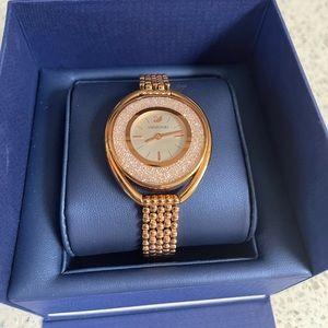 Swarovski crystalline rose gold women's watch